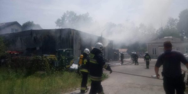 Pożar przy ul. Okuniewskiej